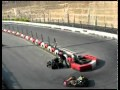 Un pilote de karting pas fair-play