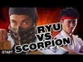 Mortal Kombat vs Street Fighter - Scorpion vs Ryu - Live