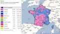 1er tour des élections version Google Maps